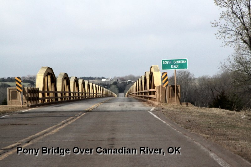 Pony Bridge Over Canadian River, OK
