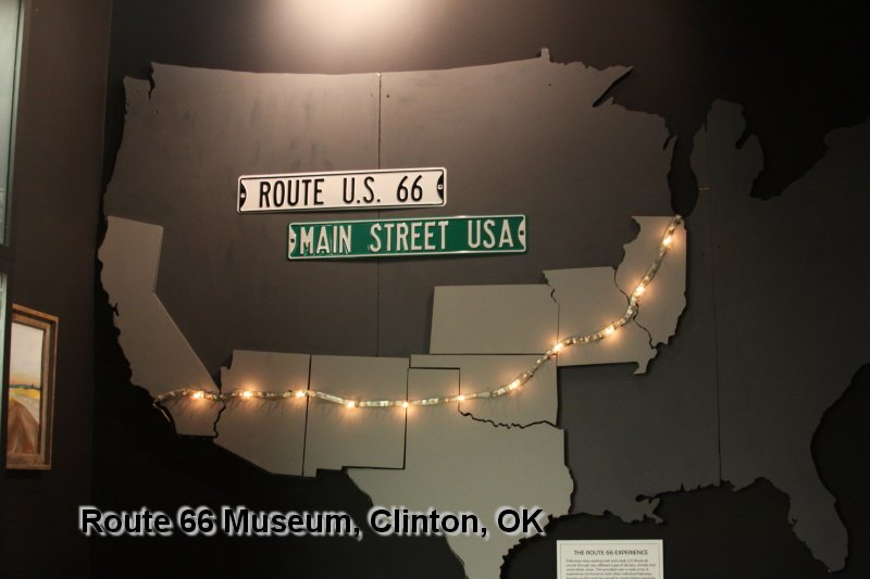 Museum Display of Route 66