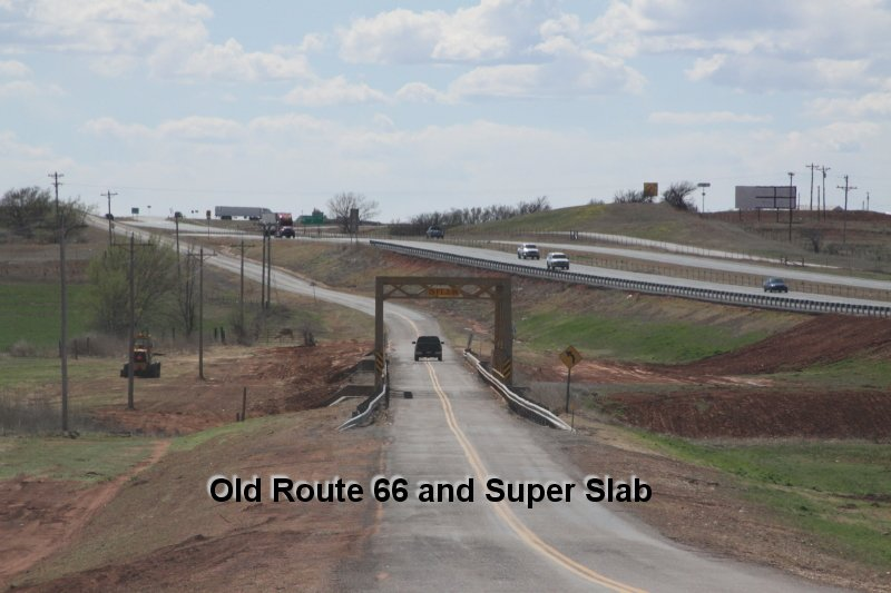 Old Route 66 and Super Slab