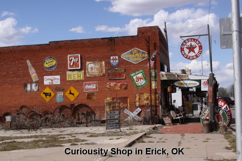 Curiousity Shop in Erick, OK