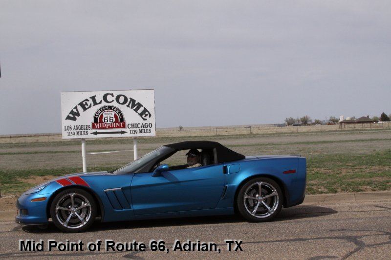 Mid Point of Route 66, Adrian, TX