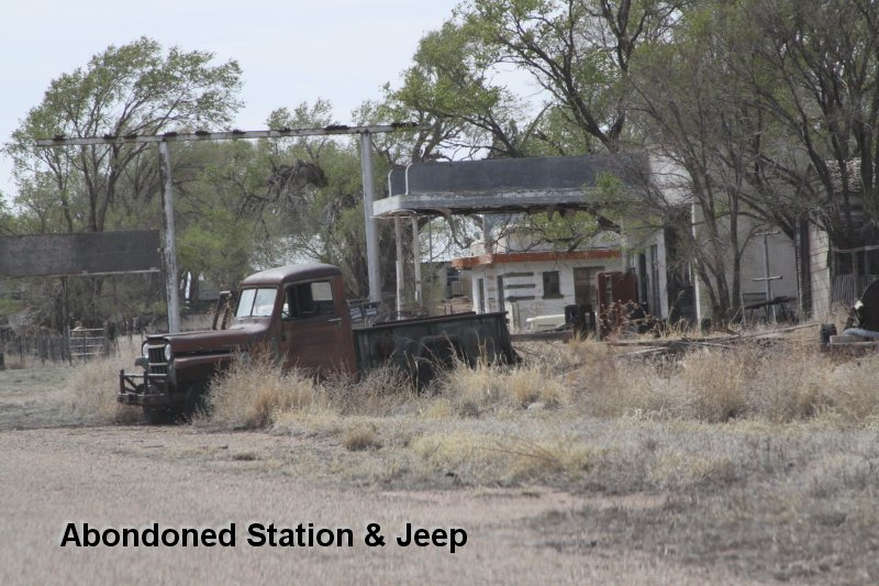 Abondoned Station & Jeep