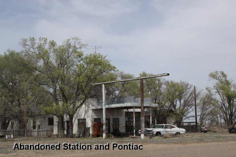 Abandoned Station and Pontiac