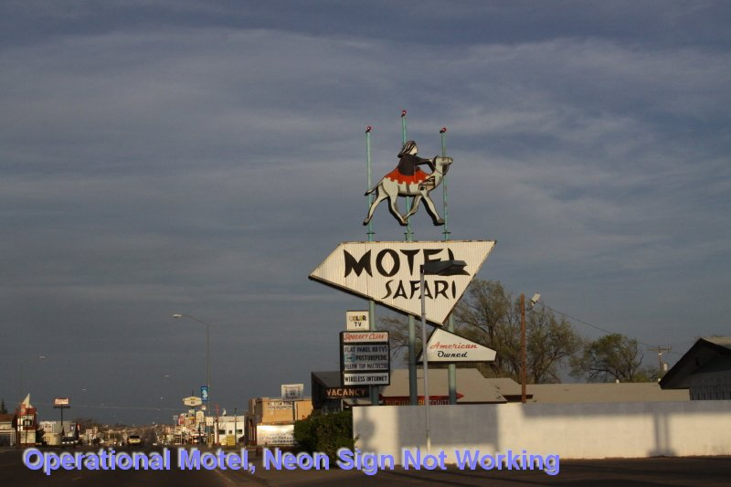 Operational Motel, Neon Sign Not Working