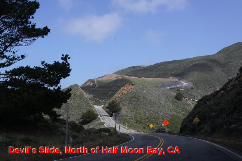 Devil's Slide, North of Half Moon Bay, CA
