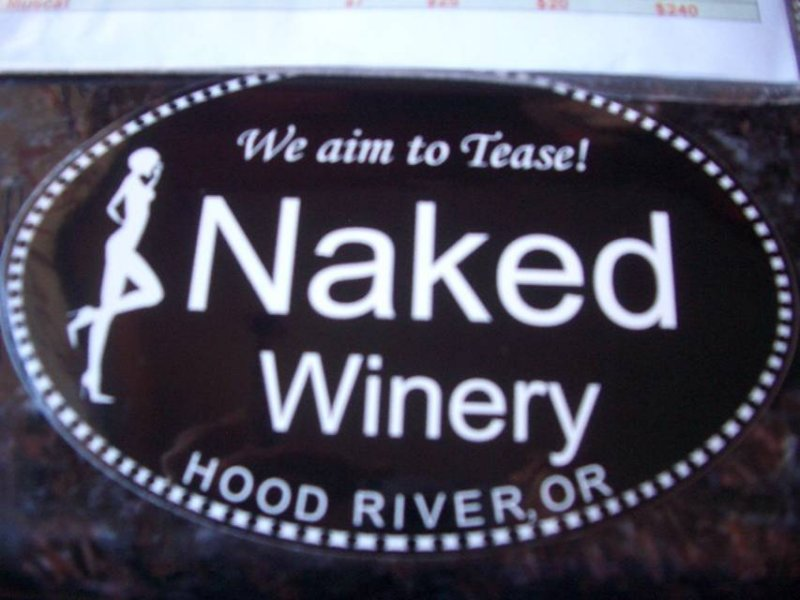 Wine tasting at the Naked Winery, Hood River OR