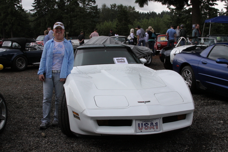 Lynn and her C3 in the Car Corral